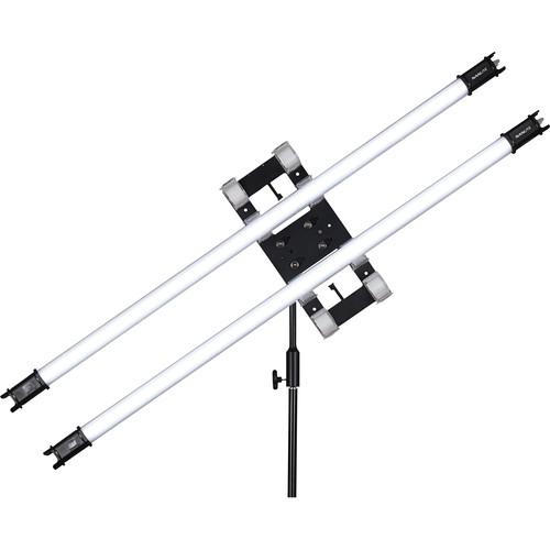 Nanlite PavoTube 30C 4' RGBW LED Tube with Internal Battery 2 Light Kit